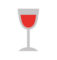 birthday wine glass drink toast celebration vector image