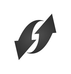 black arrows icon up and down refresh update vector image
