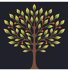 Black tree color vector image