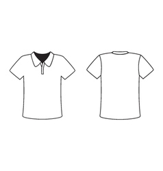 Blank front and back polo t-shirt design template vector