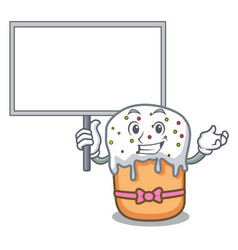 bring board easter cake character cartoon vector image