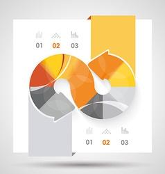 Brochure design with arrows elements vector