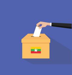 burma vote election concept vector image