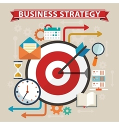 Business strategy concept Flat design stylish vector image