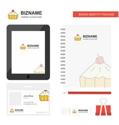cake business logo tab app diary pvc employee vector image