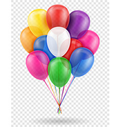Celebratory transparent balloons pumped helium vector