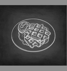 chalk sketch waffles vector image