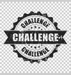 challenge scratch grunge rubber stamp on isolated vector image