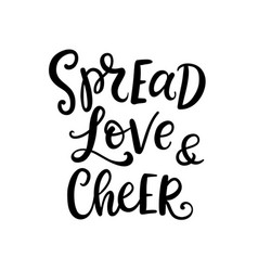 Christmas ink hand lettering spread love phrase vector