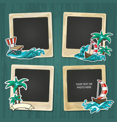Collage nice photo frame vector