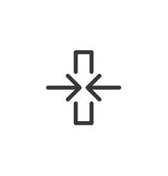 computer api interface icon with two arrows vector image