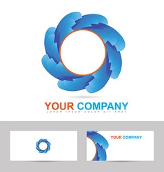 Corporate business logo design vector image