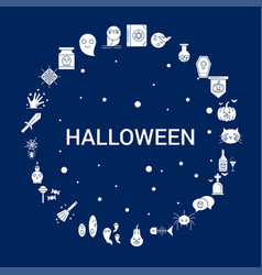 Creative halloween icon background vector