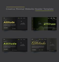 Creative minimal website header templates design vector