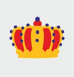 Crown on grey background vector image