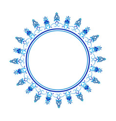 decorative ornamental round frame for greeting vector image