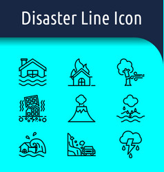 Disaster line icon vector