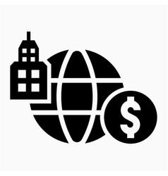 Dollar multinational icon vector