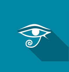 Eye of horus with a long shadow vector