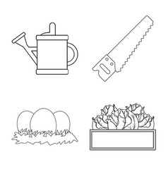 farm and agriculture symbol vector image