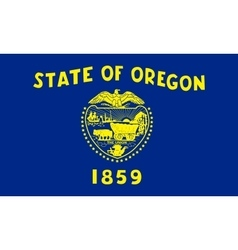 Flag of Oregon in correct size and colors vector