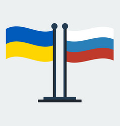 flag of ukraine and russiaflag stand vector image