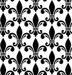 French style seamless pattern - Fleur de lis vector