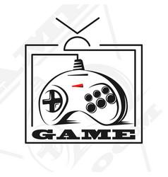 gamepad logo vector image