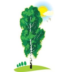 Green birch vector