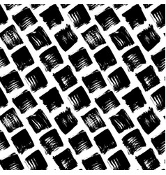 grunge seamless pattern with hand drawn squares vector image