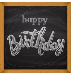 Happy Birthday card Handdrawn lettering vector