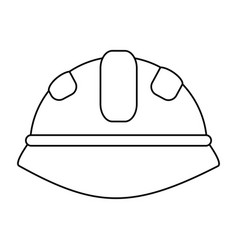 helmet under construction related icon image vector image