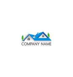 Home roof construction company logo vector