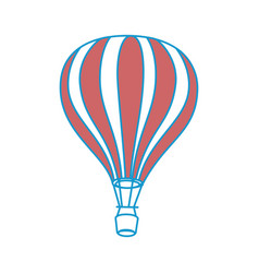 Hot air balloon vector