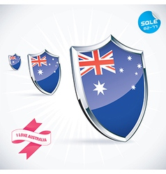 I Love Australia Flag vector