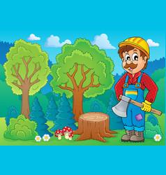 Image with lumberjack theme 2 vector