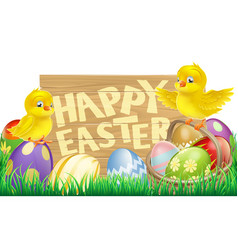 isolated easter sign vector image