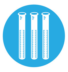 Isolated group of test tubes vector