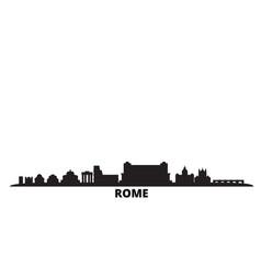 Italy rome city skyline isolated vector