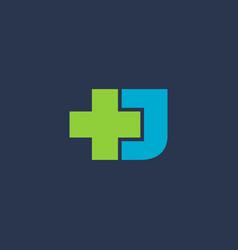 Letter j cross plus logo icon design template vector