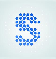 letter s logo halftone icon vector image