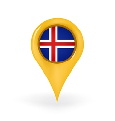 Location Iceland vector