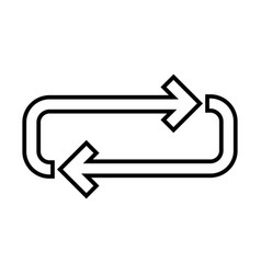 loop line black icon vector image