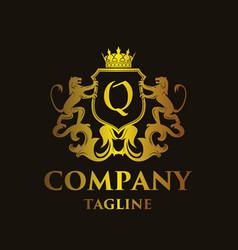 Luxury letter q logo vector