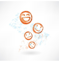 Many smiles grunge icon vector