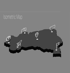 Map brazil isometric concept vector