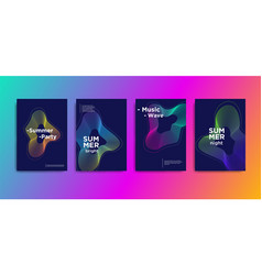 minimal covers design music wave poster design vector image