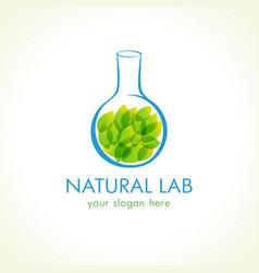 natural lab logo vector image