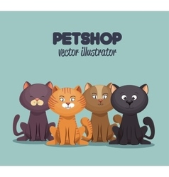 petshop care and grooming mascot graphic vector image