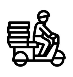 pizza delivery icon outline vector image